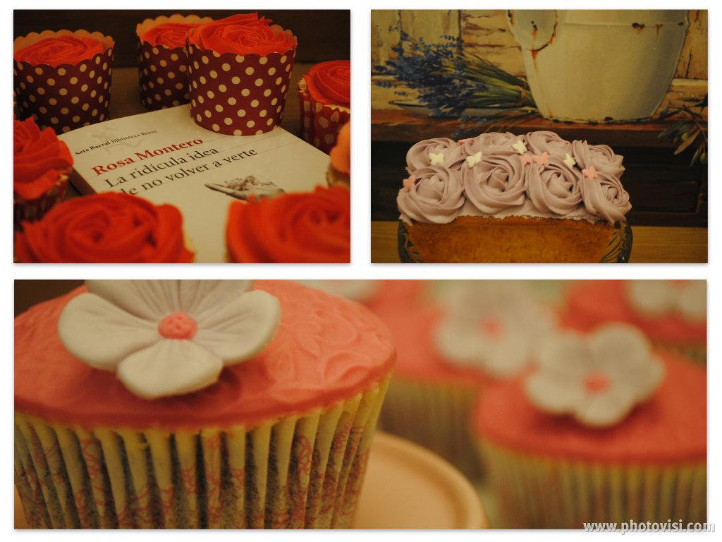 Cupcakes primavera y bizcocho de violeta