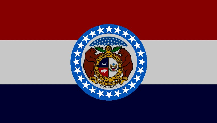 Flags For States With A Missouri Middle Max Point Of View