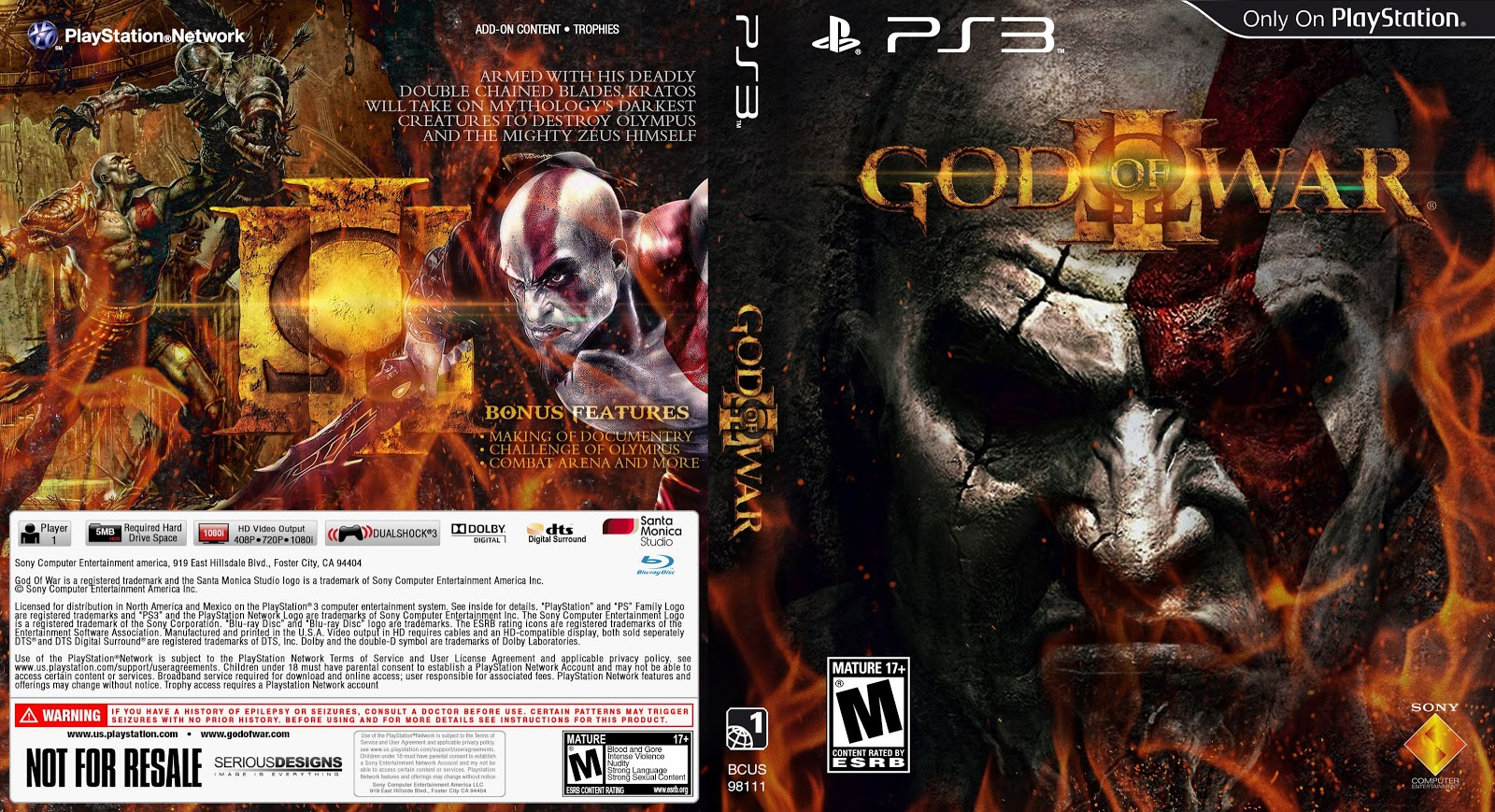 Capa God Of War III PS3