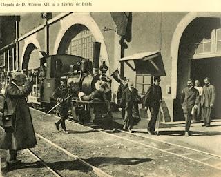 alfonso XIII fabrica asland clot del moro cemento tren guardiola castellar n'hug berga