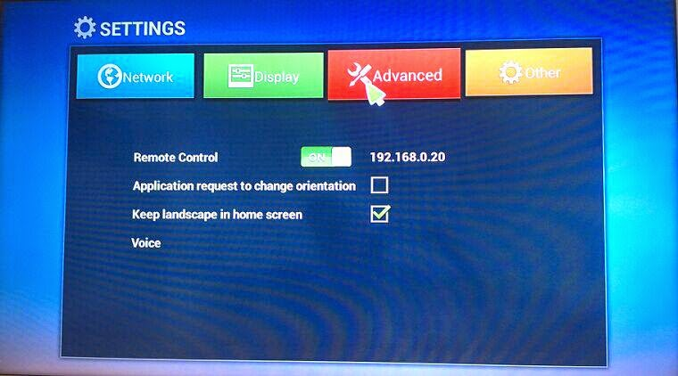 how to open a terminal on android tv