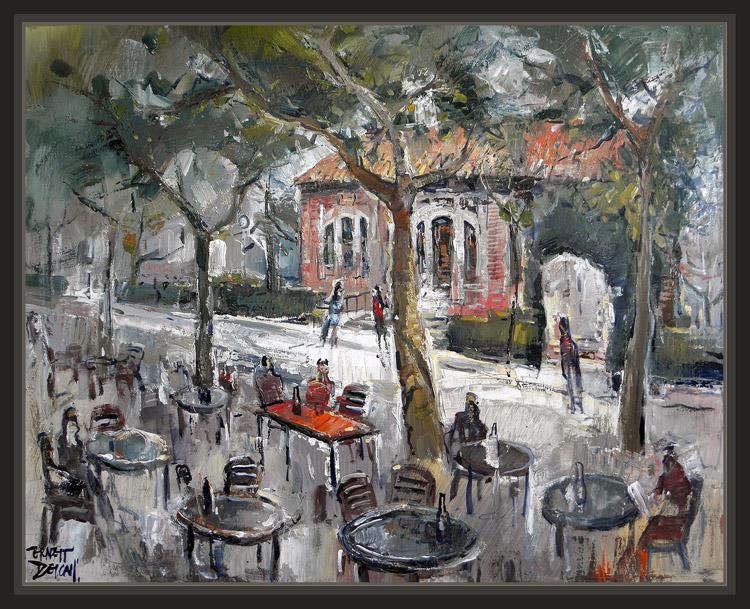 Ernest descals artista pintor dias de pintura pintar pueblos ciudades arte en directo - Pintores en lleida ...