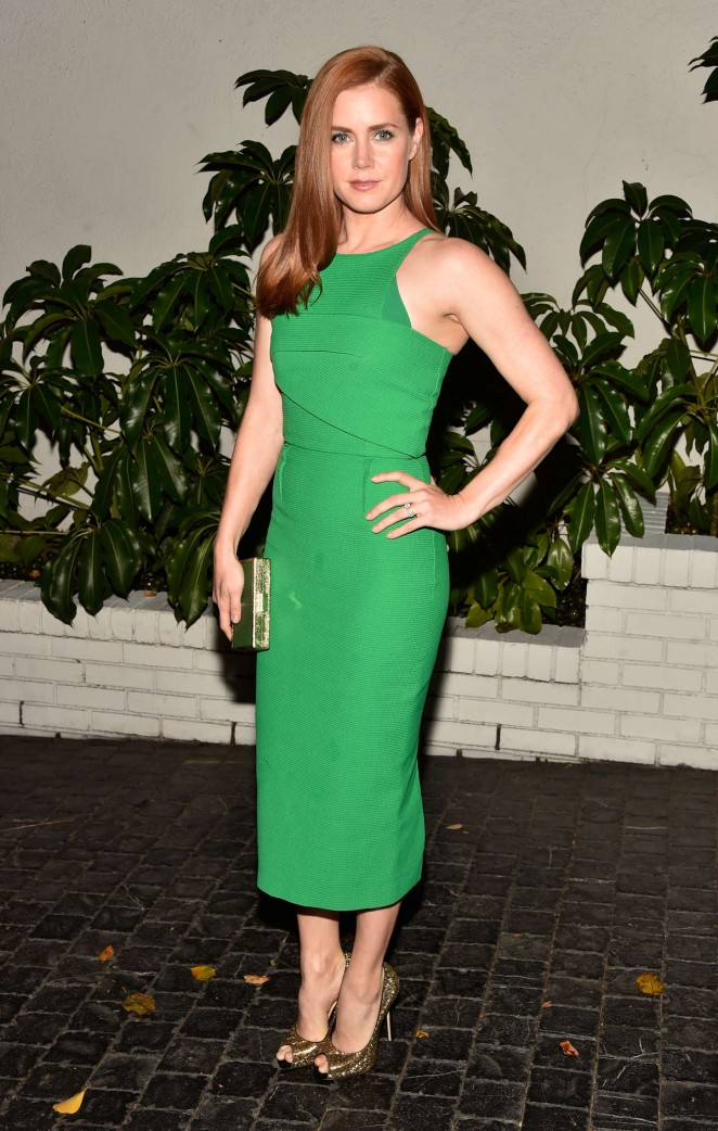 Amy Adams in a Roland Mouret dress at the W Magazine's 2015 Golden Globes Celebration