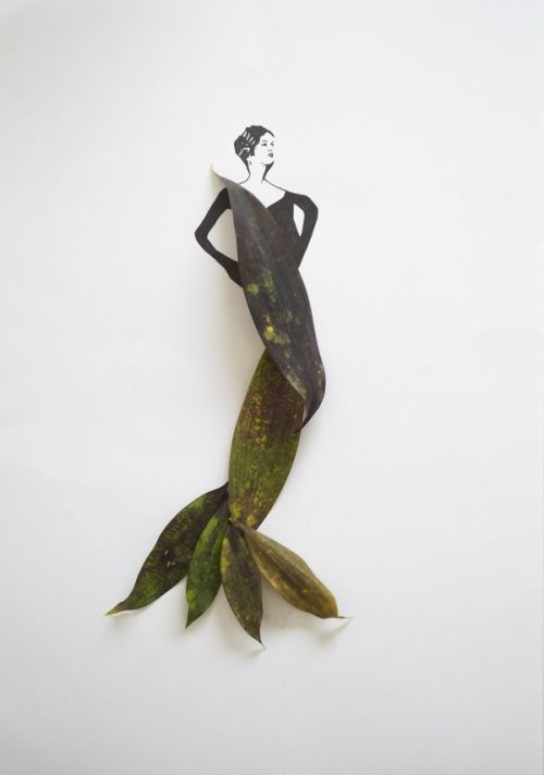 Tang Chiew Ling illustrations design fashion lyrical leaf leaves nature Fashion in Leaf - Same Audrey later