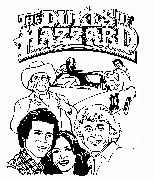 Dukes Of Hazzard Coloring Pages Instant Knowledge Coloring Pages For The Dukes Of Hazzard Car