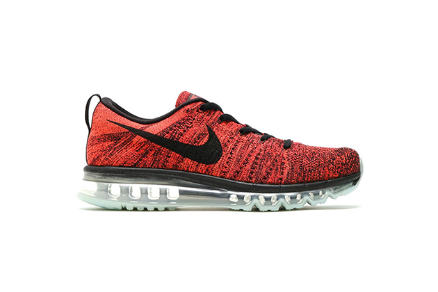 Nike Flyknit Air Max combines large air cushioning unit with woven uppers.