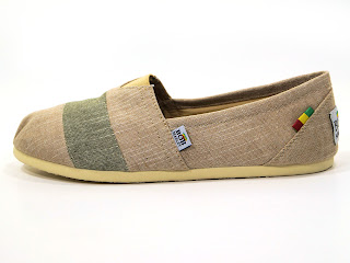 Bob Marley Shoes: Rita Shoe Sand Stripe Chambray