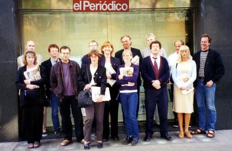 Sydostpress Överkursens resa till Barcelona och Katalonien år 2000