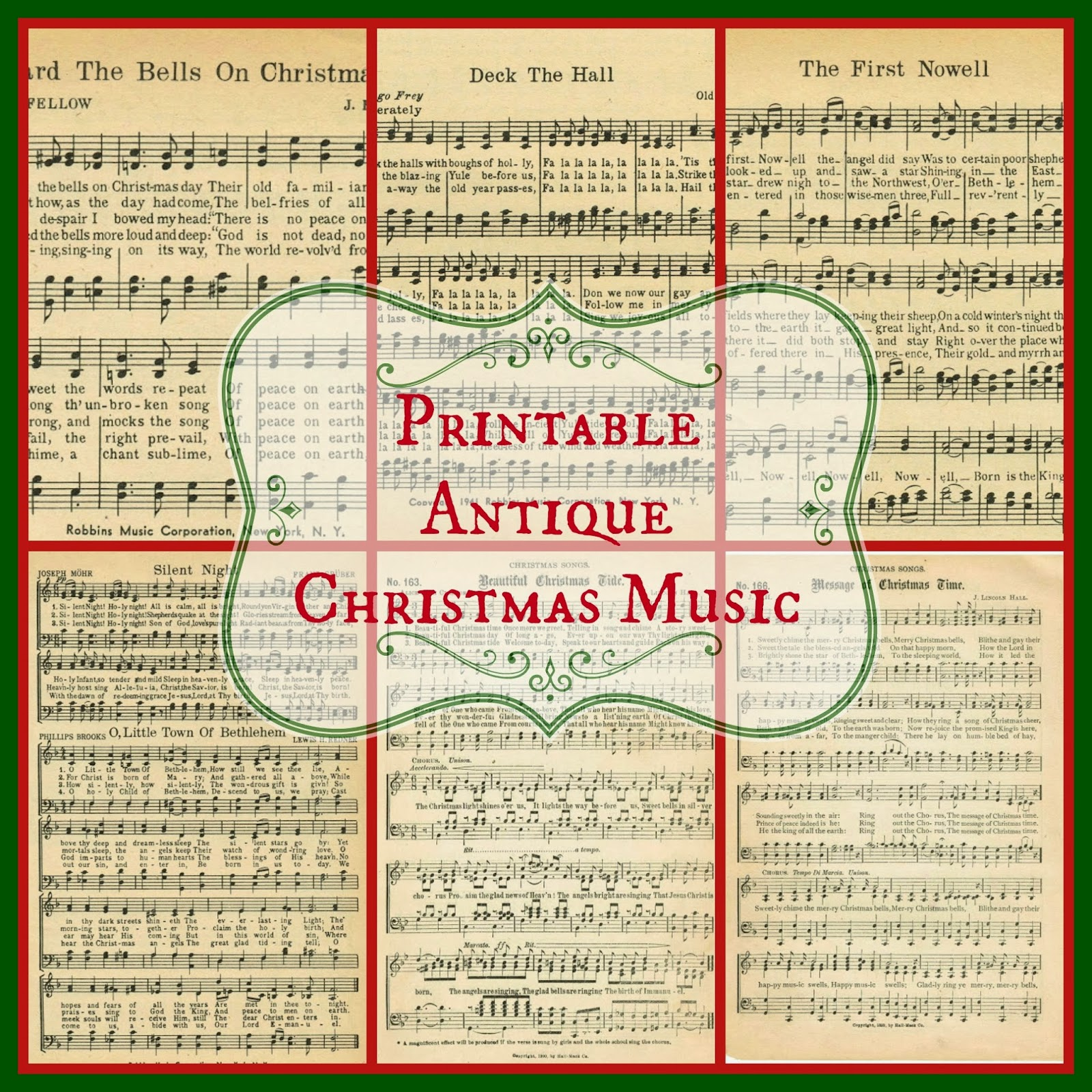 It is a picture of Monster Free Printable Christmas Songs