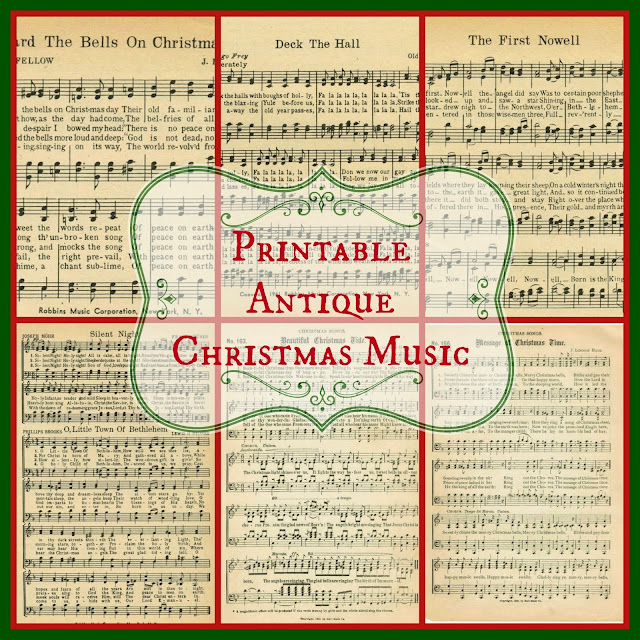 Christmas Music Pages - Loads of free pages! - Knick of Time