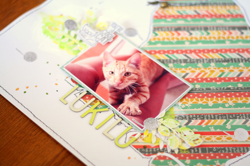 scrapbook - cat - chile