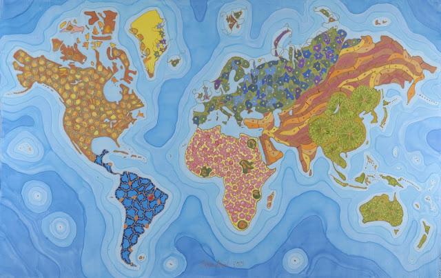 Mapa de la Salud con las principales enfermedades a nivel mundial, al estilo de Odra Noel