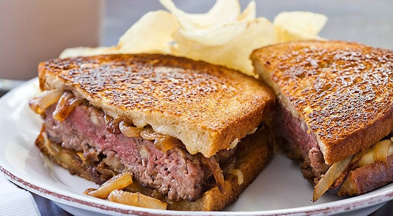 Grilled Meat Sandwiches for Breakfast