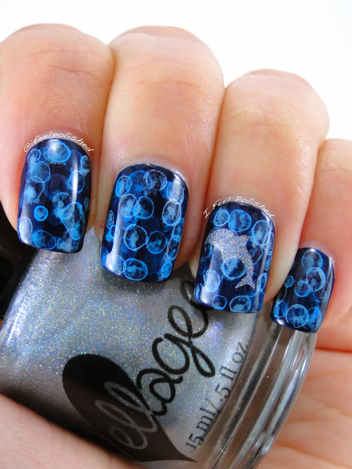 Bubble Nail Art - I Feel Polished!: SmART Nail Stencils: Dolphins - Dolphin - Dolphin Nail Art Graham Reid