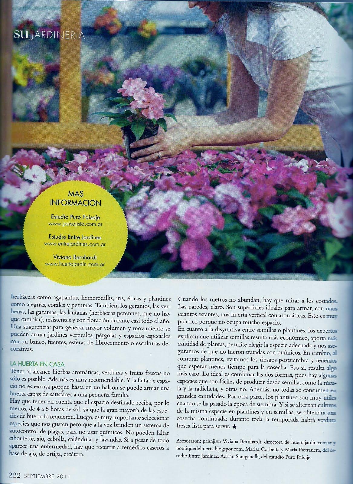 Boutiquedehuerta publicando en la revista de su - Consejos de jardineria ...