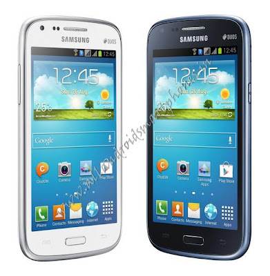 Samsung Galaxy Core 3G Android Smartphone Blue White Front Image & Photo Review