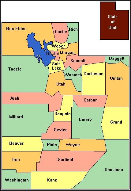 Online Maps Utah County Map