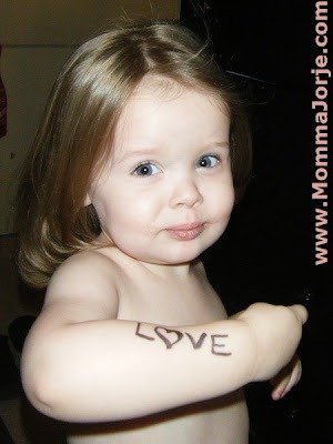 To Write Love On Her Arms ~ Toddler