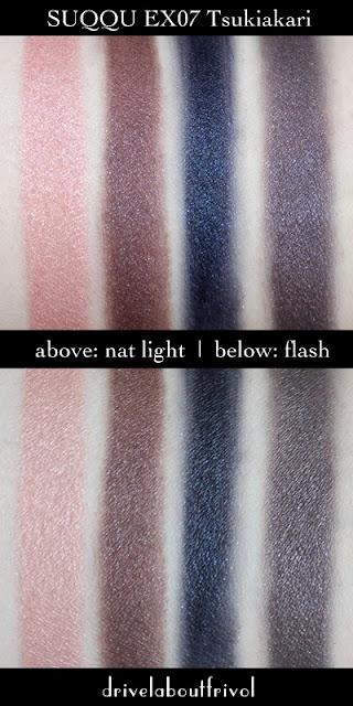 Suqqu Blend Eyeshadow palette swatch EX-07 Tsukiakari
