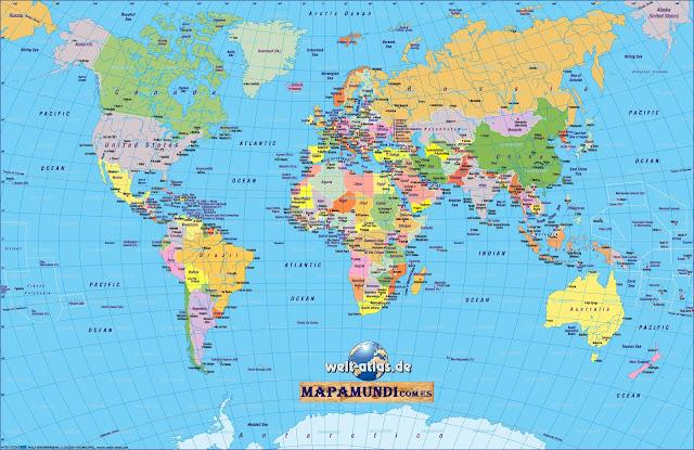 Mapamundi Mapa del mundo politico