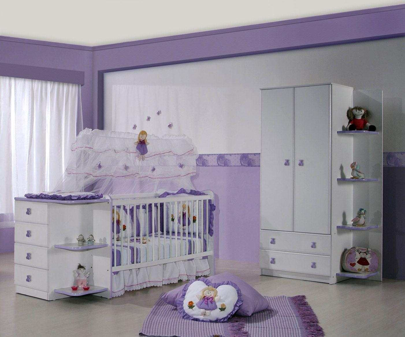 quarto para bebê, menina lilas