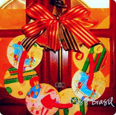 Lembrancinhas de natal com CD e EVA