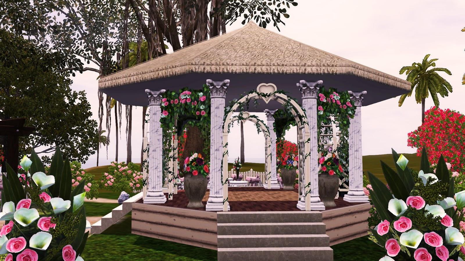 Kattys Sims 3 Creations Wedding Park I Do No Cc