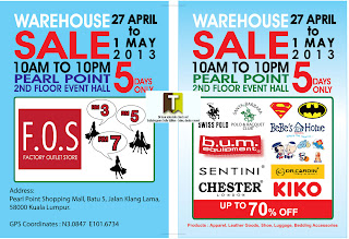FOS Warehouse Sale 2013