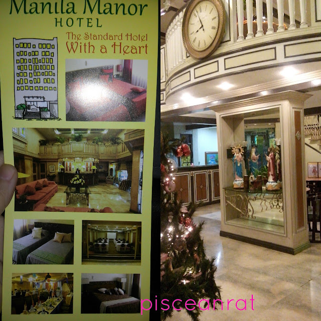 We only had a glimpse of Manila Manor Hotel reception.