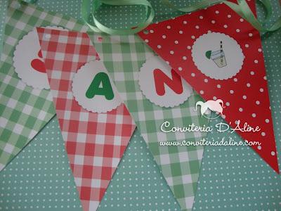 bandeirolas decoração picnic
