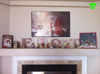 Nativity Christmas Mantel