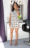 Jordana Brewster shows off her legs in a minin dress
