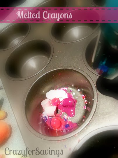 metled crayon muffin tin