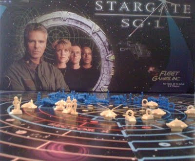 Stargate SG-1 the board game in play