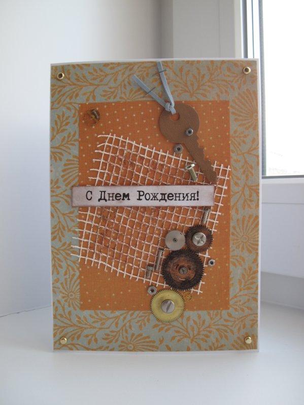 Объемные открытки с текстильными деталями - Своими руками