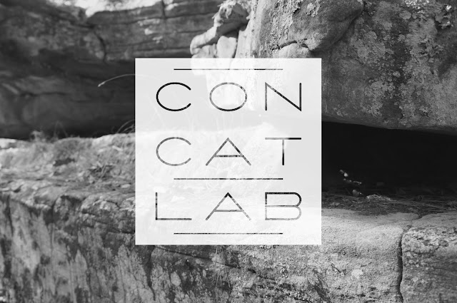 b&w nature photo with white concatlab 3x3 grid logo