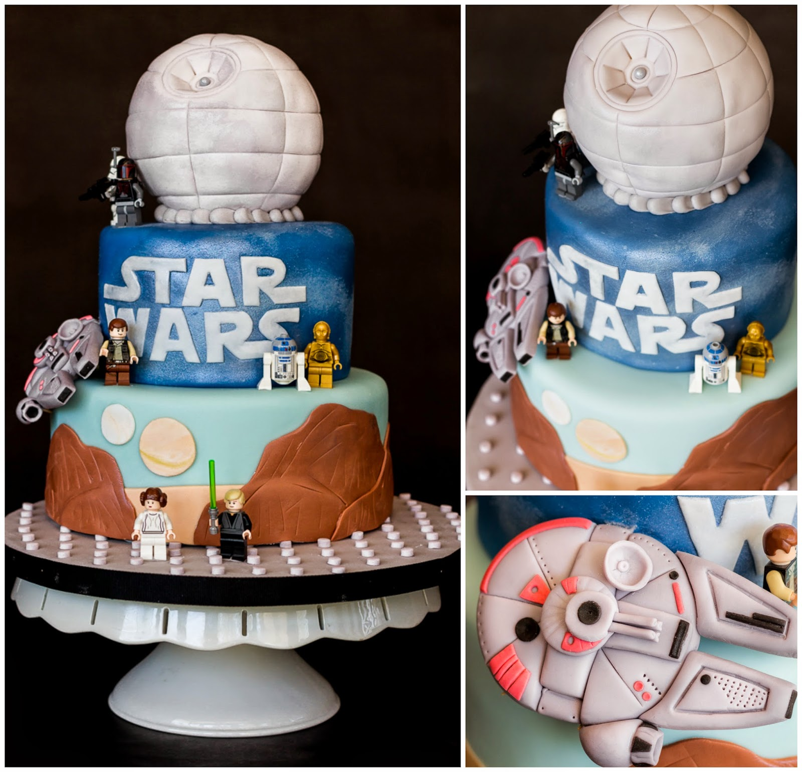 Trs Sucr Custom Confections Star Wars Cake
