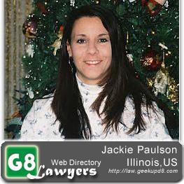 Jackie Paulson G8-Lawyer-Paralegal, Illinois