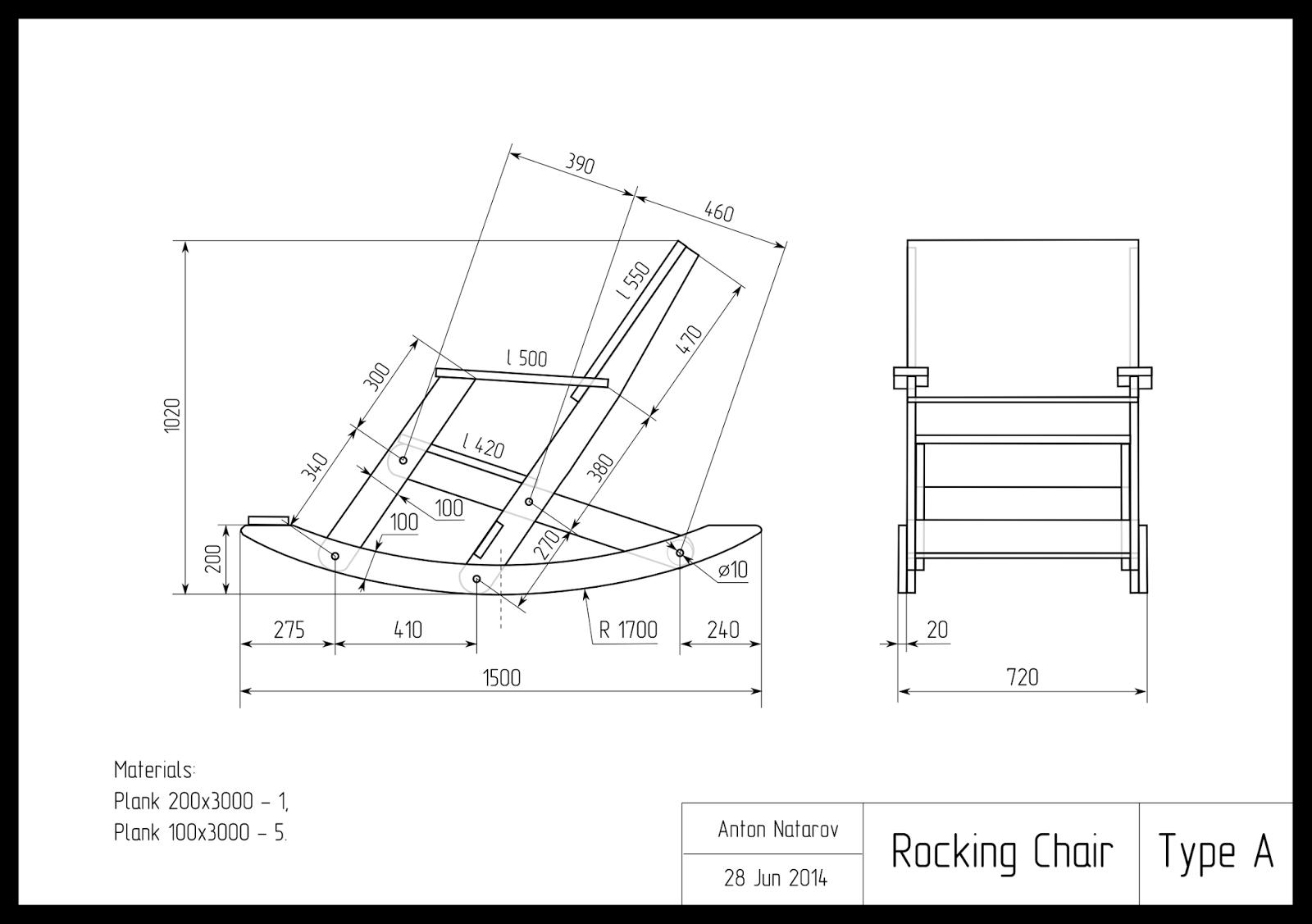 Изготовление кресла качалку своими руками