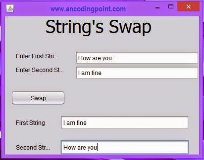 String Swap with GUI Components