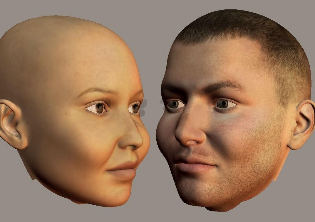 Deep Cheeks Face type (half profile)
