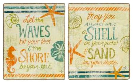 Beach Canvas Sign Pair