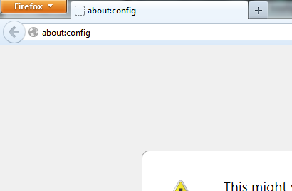 Type about:Config in Address bar Screenshot: Intelligent Computing