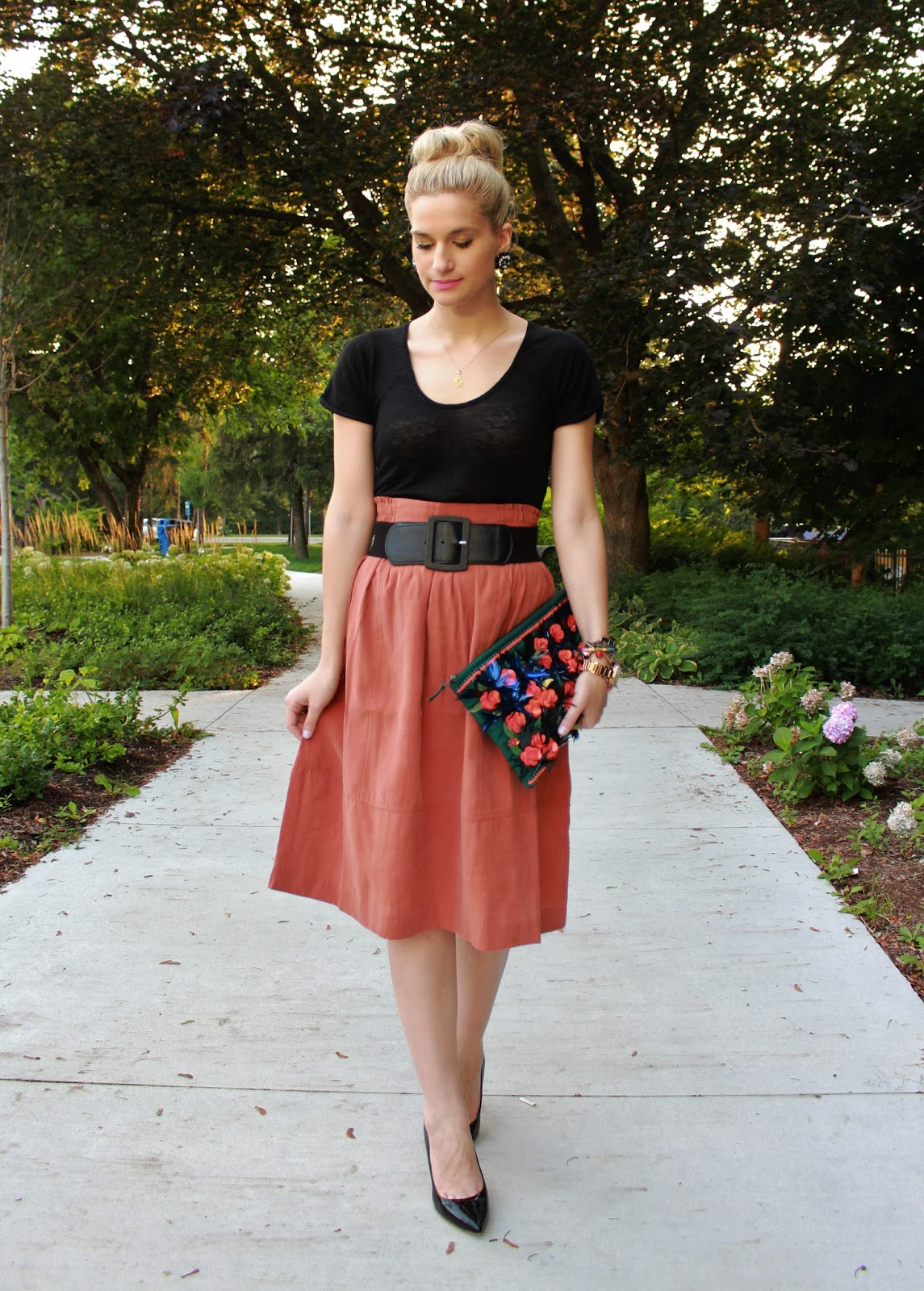 bijuleni- midi fall skirt