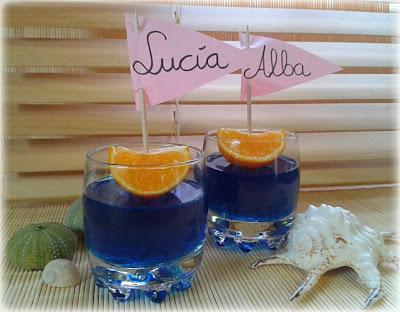 Barcos de mandarina gelatina