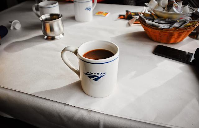Amtrak train coffee mug