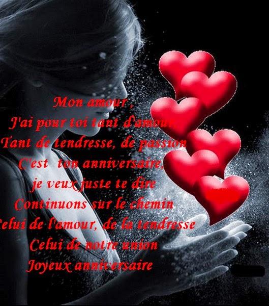 Message d 39 amour et d 39 amiti textes et cartes anniversaires pour les amoureux gratuit imprimer - Carte d amour ...