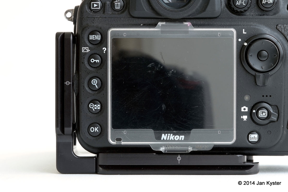 Nikon D800 w/ Plastic LCD protection cover.