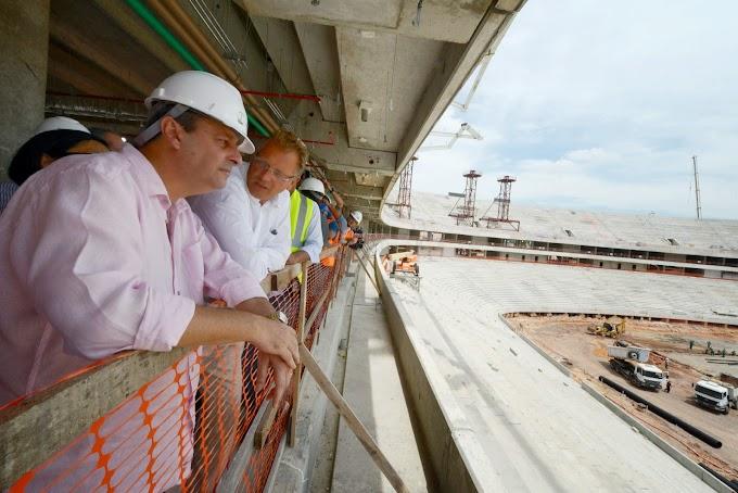 Governador Omar Aziz confirma entrega da Arena da Amazônia para dezembro e clássico Rio-Nal para inauguração em janeiro