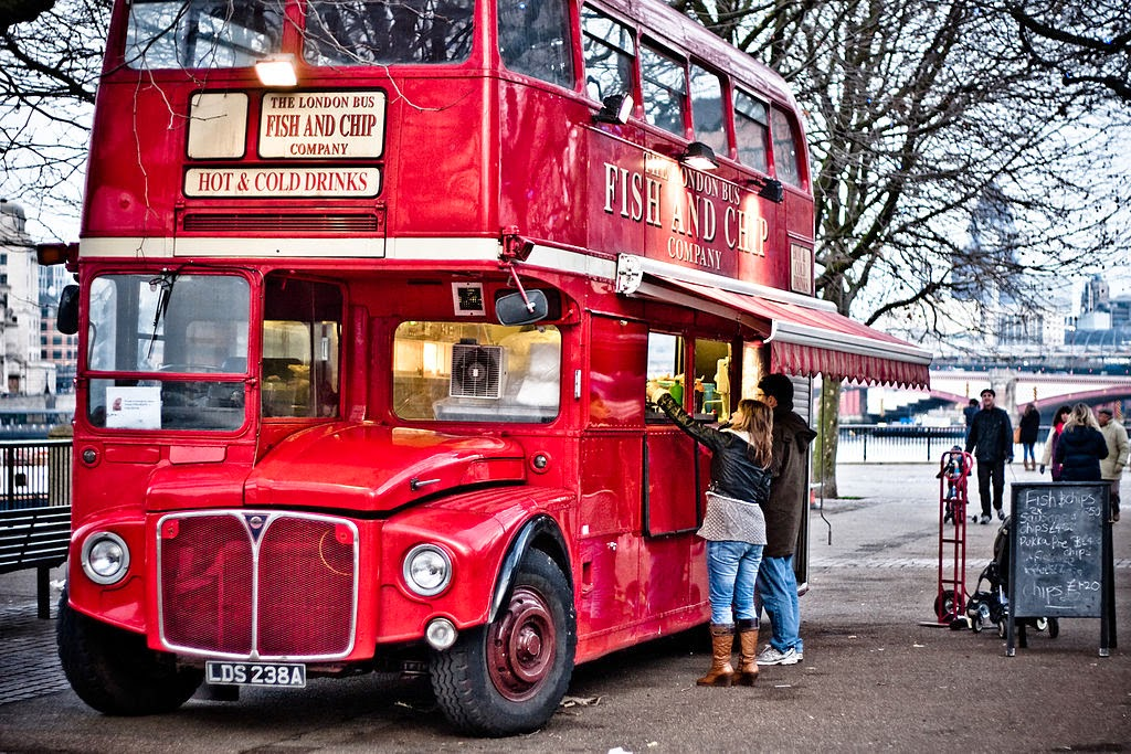 As British as a London bus – but traditional fish and chips are under threat (Image Credit: Garry Knight from London, England via Wikimedia Commons) Click to Enlarge.